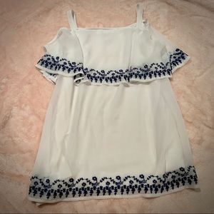 White Flowy Shirt